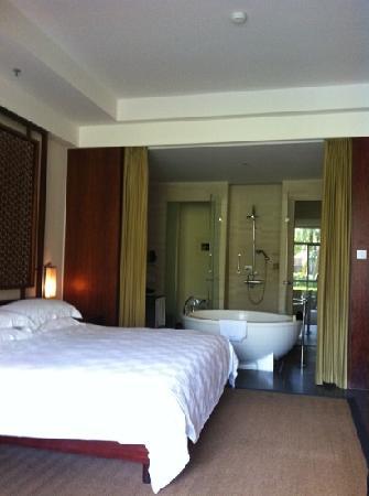 Hilton Sanya Yalong Bay Resort & Spa: 阳台外是游泳池