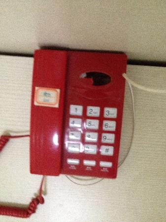 Huiting hotel: 这是里面的电话,烂到这种程度