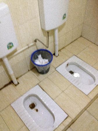 Huiting hotel: 我这辈子第一次见三星级酒店里,厕所里并排没有挡板的两个坑!