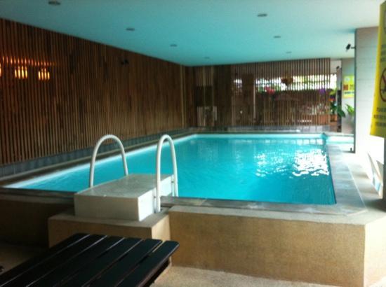 Thaphae Garden Guesthouse: 泳池很迷你,在入口处