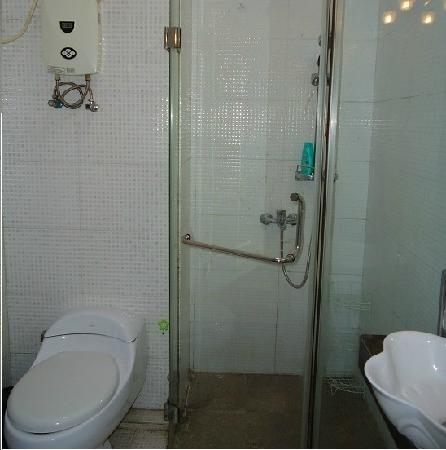 Xinqing Bed And Breakfast: 浴室都是独立的 还有玻璃隔开的 马桶是坐式的马桶哦