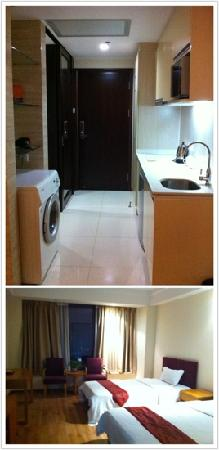 She & He Apartment Guangzhou Vili: 双床房