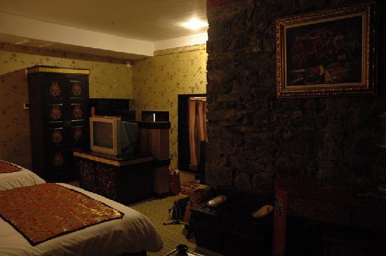 Dazang Guge Wangchao Hotel: 房间内很民族风格