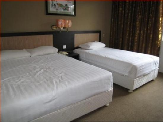 Hotel Hallmark Inn: 一大一小的双床房