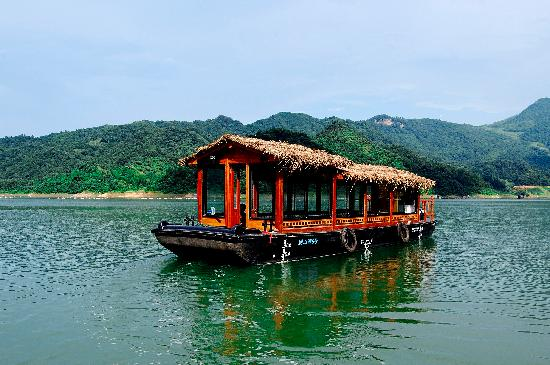 Huoshan County, Kina: 大别山主峰-别山湖-游船