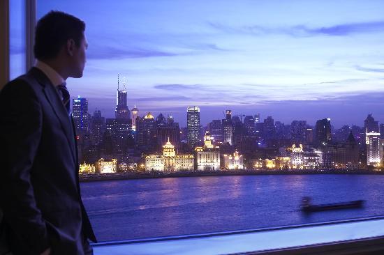 Pudong Shangri-La, East Shanghai: View from Horizon Club Lounge