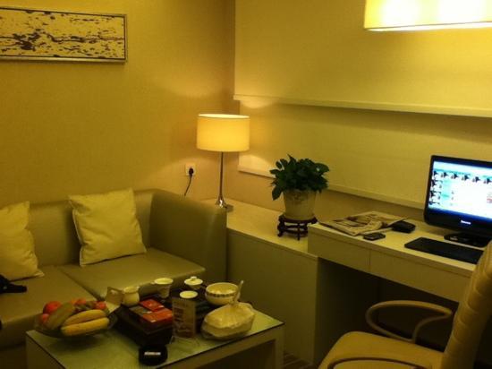 Days Hotel Hotspring Fuzhou : 福州温泉戴斯酒店商务套房客厅