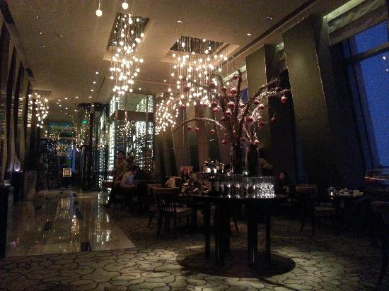 Shangri-La China World Summit Wing, Beijing: 酒店顶层的酒廊