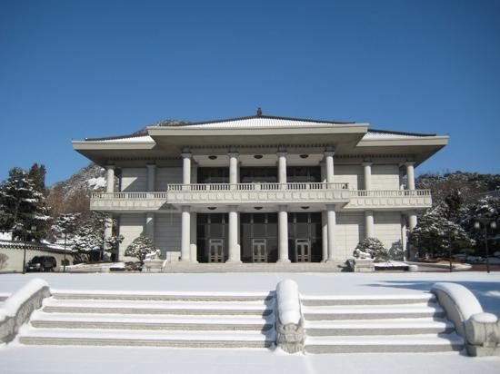 Cheongwadae Sarangchae: 青瓦台里的礼堂