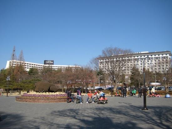 Hotel Concorde Gyeongju: 酒店后面的公园很大 就在普门湖边