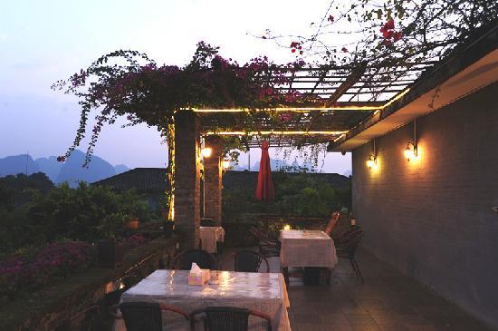 No.1 Yard Hotel Yangshuo: 观景花园餐厅