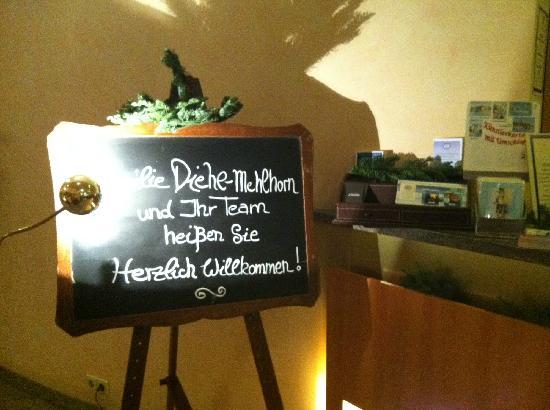 Diehls Hotel : chenk in