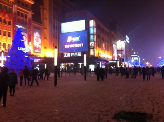 Wangfujing Street: 下雪的王府井