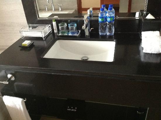 DoubleTree by Hilton Shenyang: 卫生间的洗手池