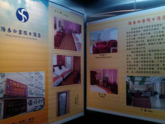 Yangchun Baixue Holiday Inn: dianti