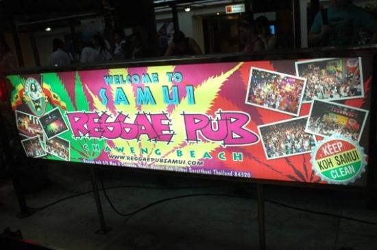 Reggae pub: samui airport ads