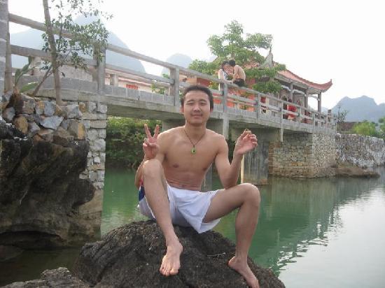 Du'an County, China: 这里就是传说中的古松洲哦,离我家就几百米远