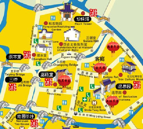 Tongli Huajiantang Lize Nvxue: 地图
