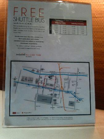 Swissotel Nai Lert Park: shuttle bus timetable