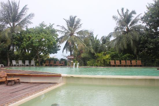 Adaaran Select Hudhuranfushi:                   酒吧旁的泳池