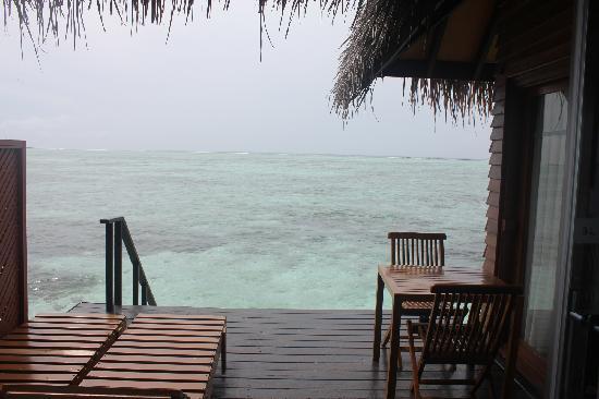 Adaaran Select Hudhuranfushi:                   水屋的小阳台