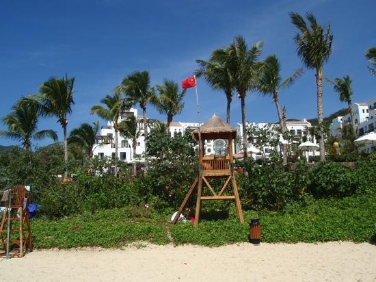 Yalong Bay: 沙滩排球很给力