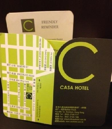 Casa Hotel Hong Kong: 门卡很精致哦