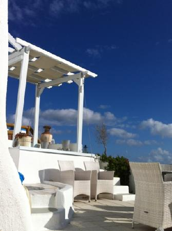 Grace Santorini Hotel : 酒店露台
