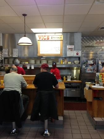Vic's Waffle House: kitchen