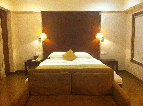 Conifer Garden Hotel Haikou: Delux kind size bed room