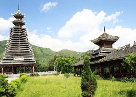 Rongjiang County, الصين: 三宝侗寨
