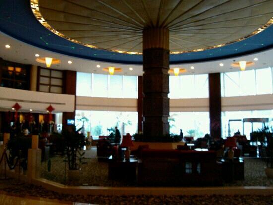 Tachee Island Holiday Hotel Qiandaohu : 大厅,天圆地方?