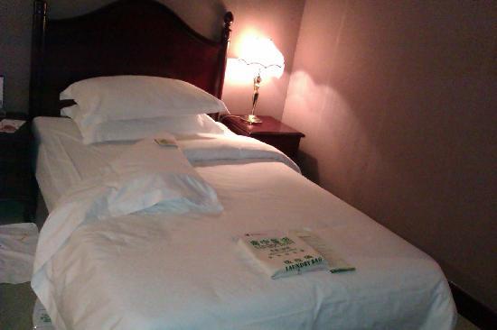 Nanning Hotel: 床(下午回来之后铺的)
