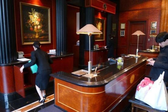 The Westin Tokyo:                   check in desk