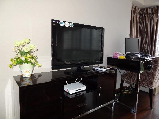 Ao Cheng Tiantian Apartment Hotel: 液晶电视,液晶电脑,无线wifi