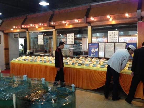 Jinmengyuan Haixian Hotel: 点菜间一景