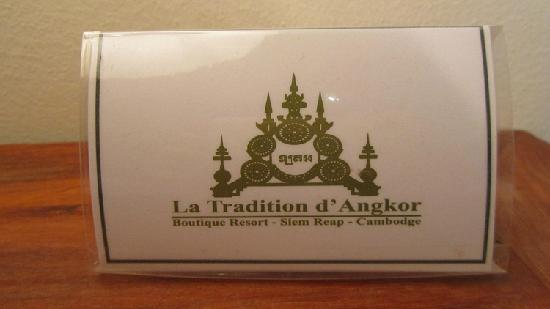 La Tradition D'Angkor Boutique Resort: 酒店名牌