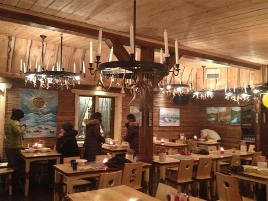 Nellim Wilderness Hotel: 大堂餐厅