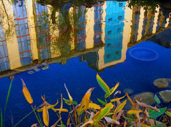 Tianzun International Hotel: 酒店池塘倒影