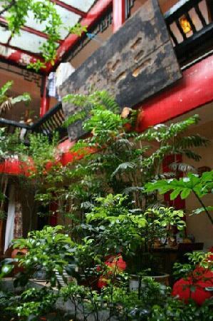 Dragontown International Hostel Chengdu: 旅舍漂亮的天井