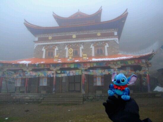 Gongga Temple : 烟雾弥漫