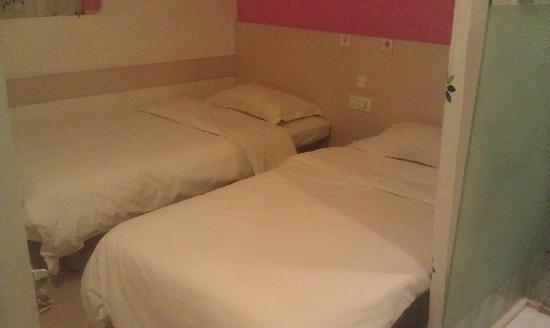 100 Inn Tianjin Hongqiao Qinjian Avnue: 朋友住的双床房