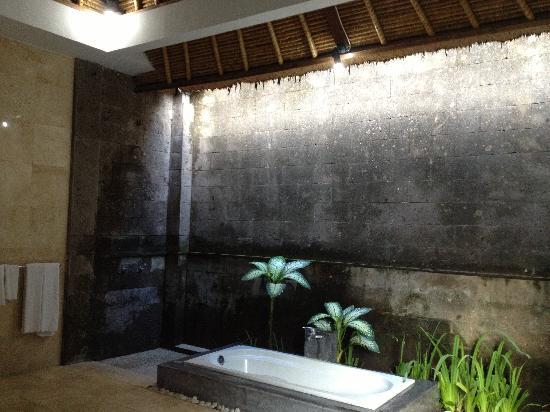Bali Merita Villa & Spa : 半露天卫生间