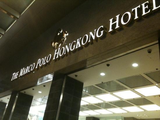 Marco Polo Hongkong Hotel: 招牌