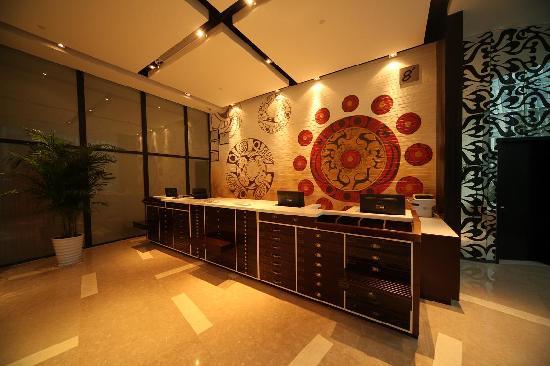 8oJinhao Shijue Hotel: 前台