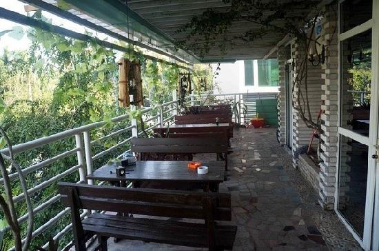 Xingzhe Hostel: 这就是阳台了,在这里喝茶聊天好不惬意