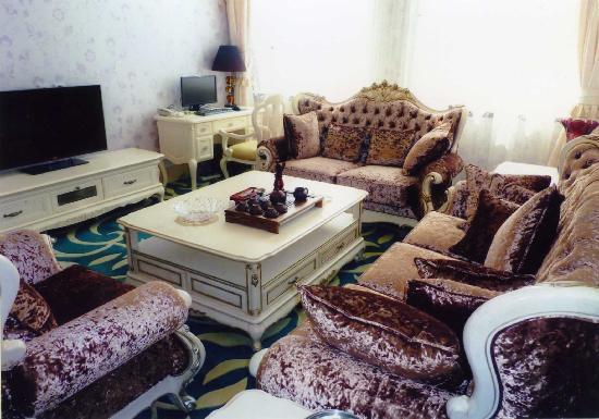 Jindu Hotel: 套房客厅