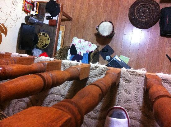 Gelulu No.68 Hostel: 从上往下拍的。可以坐在地上上网,很舒服。