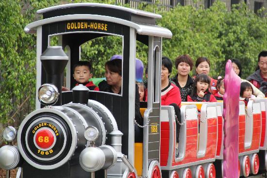 Longyan, China: 很好的一个亲子游乐火车,大人小孩都可以玩!