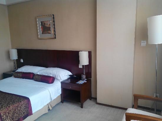 Mengdu Yushanhu Hotel : 墙纸有鼓泡